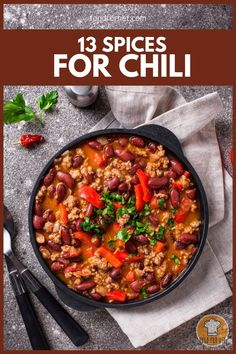 Chili is truly a comfort food that you can always count on to cheer your mood. Check out these 13 spices for chili and see which ones do you think will add a new depth of flavor to your favorite chili recipe. #spices #chili #spicesforchili #chiliconcarne Classic Chili Recipe, Favorite Chili Recipe, Spicy Recipes, Chili Recipes, Coriander Spice, Con Carne Recipe, Great Dinner Ideas, Chili Spices, Chili Seasoning