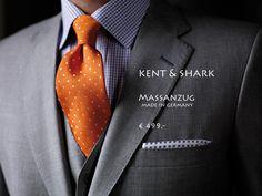 Edle Tuche von Holland & Sherry, London, Savile Row für Maßanzüge English Style von Kent & Shark made in Germany in allen Größen und Übergrößen bis 12XL.