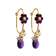 Amethyst beauties! at PondiCherry Indian Jewelry