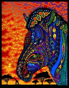 the zebra - phil lewis Zebra Kunst, Zebra Art, Wall Art Prints, Fine Art Prints, Canvas Prints, Framed Prints, Psychedelic Art, Tres Belle Photo, Zebras