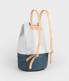 Backpack - navy lightblue