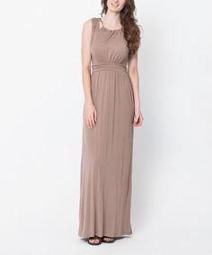 Look at this Mocha Braided Back-Tie Maxi Dress on #zulily today!