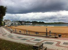 Segunda Playa del Sardinero en Santander, Cantabria