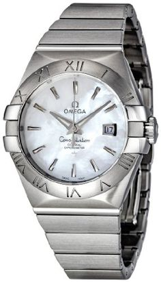 0c1b350b9ed Omega Women s 123.10.31.20.05.001 Constellation White Mother-Of-Pearl Dial  Watch