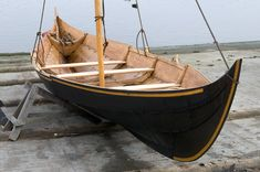 """""""Freydis Joanna"""" - Vikingeskibsmuseet Roskilde.  'Freydis Joanna'  is a reconstruction of a ship's boat from the Gokstad ship in Norway, dating 895."""