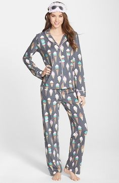 PJ Salvage Print Jersey Pajamas available at #Nordstrom