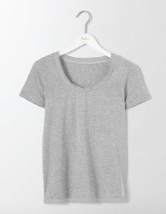 Make room in your wardrobe for this supersoft cotton jersey tee – you'll want to get one in every colour. With a flattering scoop neck and hem detailing, it's perfect for dressing up your jeans. You can also wear it under a smart jacket for working lunches.