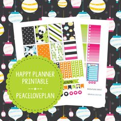Pandas MAMBI Happy Planner Printable - Weekly Set, Happy Planner Stickers, PDF Instant Download