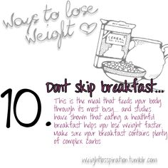 don't skip breakfast