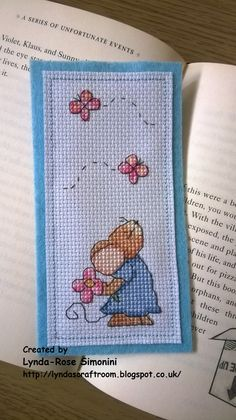 Lucie Heaton Furry Tales cross stitch bookmark