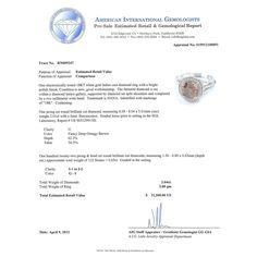 Auriya 18k Gold 2ct Certified Fancy Deep Orange Brown Diamond and 5/8ct TDW Round-cut Diamond Double Halo Engagement Ring