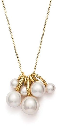 Ippolita 18K Yellow Gold Nova Cultured Freshwater Pearl Cluster Chain Necklace, 30