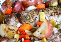 Cajun Roasted Pork Loin and Vegetables from Rachel Schultz