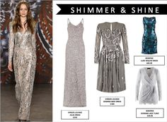 Get ready to sparkle this AW15! Metallic/ Shimmering details are sure to take over when the sun sets this AW15!