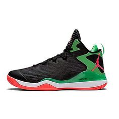 d3f7d00407a Nike Jordan Super.Fly 3 Mens 684933-030 Black Green Red Basketball Shoes Sz
