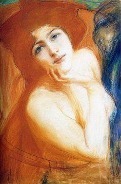 Teodor Axentowicz (Polish, 1859 -1938) 'Rudowłosa', Ok. 1899. Pastel na papierze. 56 x 45,5 cm. Muzeum Narodowe, Kraków