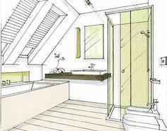 La salle de bain mansardée - les astuces d'aménagement de Villeroy & Boch:Villeroy & Boch