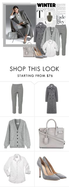 """""""50 Sades Of Grey"""" by pinkinkbydesign ❤ liked on Polyvore featuring Piazza Sempione, Carven, Maison Margiela, Yves Saint Laurent and Gianvito Rossi"""