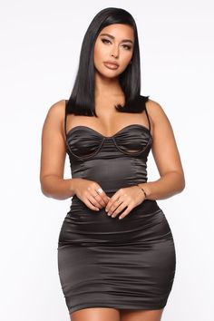 You want to look your best for girl's night out? Fashion Nova has you covered. Check out our girls' night out outfits, including sexy mini dresses, satin dresses, and more -- all within your budget. Cute Short Dresses, Sexy Dresses, Fashion Dresses, Fashion Blouses, Nova Dresses, Fashion Hats, Blue Fashion, Fashion Watches, Black Satin Mini Dress
