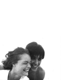 Bert Stern, Portrait of Romy Schneider and Alain Delon, 1959 Romy Schneider, Alain Delon, Demi Moore, Gena Rowlands, Faye Dunaway, Portraits, French Actress, Beautiful Couple, Rare Photos