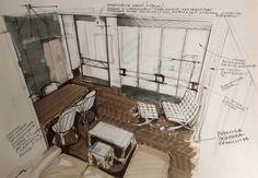 Living Room Sketch (by Magdalena Sobula Pe2)