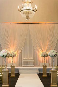 Ideas Wedding Ceremony Decorations Indoor Hotel For 2019 Wedding Ceremony Decorations, Ceremony Backdrop, Wedding Venues, Aisle Decorations, Wedding Backdrops, Backdrop Ideas, Hotel Wedding, Wedding Tips, Trendy Wedding