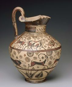 Wild Goat style pitcher Greek, Orientalizing Period, about 625–600 B.C. Description from pinterest.com. I searched for this on bing.com/images