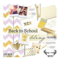 """Back to School BLING"" by clovers-mind ❤ liked on Polyvore featuring interior, interiors, interior design, home, home decor, interior decorating, Kate Spade, Tom Dixon, Midori and Cartier"