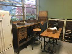 Cottage Office, Vintage Furniture, Corner Desk, Repurposed, Home Decor, Corner Table, Decoration Home, Room Decor, Home Interior Design