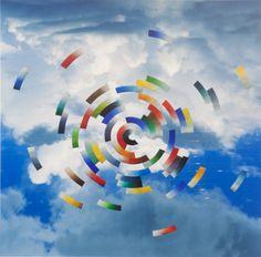 Infante Francesco Arana (*1943) | Floral construction in clouds, 2008 | Aukce obrazů, starožitností | Aukční dům Sýpka Auction, Construction, Clouds, Abstract, Frame, Floral, Artwork, House, Building