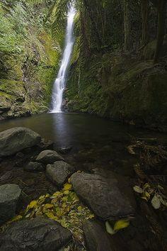 New Zealand Travel Inspiration - Ohau Waterfall just north of Kaikoura, Canterbury - New Zealand