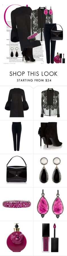 """Style nr 124"" by valerie-42 ❤ liked on Polyvore featuring Martin Grant, Givenchy, Tanya Taylor, Yves Saint Laurent, Marc Jacobs, John Hardy, Valentino and Smashbox"