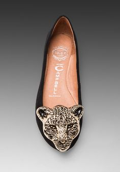 JEFFREY CAMPBELL Big Leo Suede Ballet Flat (I have a belt buckle from teh 90's that looks just like this!)
