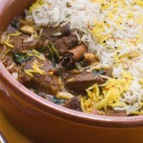 Shahi Biryani Recipe - A traditional dum style biryani with layers of saffron rice and creamy mutton. An absolute pleaser at dinner parties!