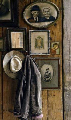 wonderful rustic, vintage, wall display