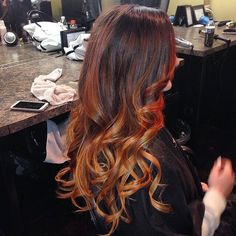 Beautiful color by @meagansublimehair #beautiful #haircolor #ombre #longhair #redkencolor #amazing #hair #love #follow