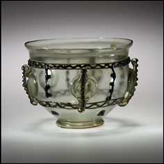 Glass Bowl, c. 375-425, late Roman, glass.