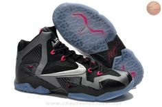 separation shoes 1ef14 90a53 Noir MetTousic Argent-Dark Gris-Rose Flash Nike LeBron 11 Miami Nights Nba