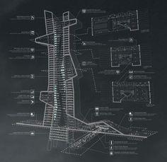 PRESENTATION DRAWINGS - EVAN SHIEH + ALI CHEN, Dubai Architecture School...