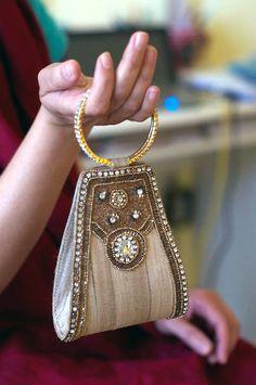 Bangle Clutch by Morpunkh on Etsy, Handbags Beaded Clutch, Beaded Bags, Potli Bags, Wedding Purse, Fabric Bags, Evening Bags, Cosmetic Bag, Fashion Bags, Clutch Bag