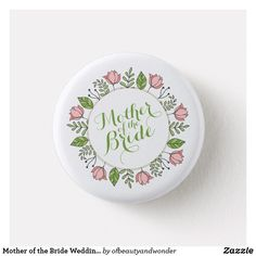 Elegant Just Married Floral Wedding Happy Mothers Day, Happy Valentines Day, Floral Pins, Mom Day, Mother's Day Diy, Wedding Pins, Couple, Custom Buttons, Just Married