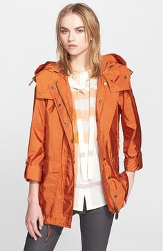 Burberry Brit 'Maidleigh' Hooded Roll Sleeve Jacket available at #Nordstrom