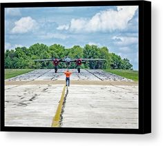 Working The Line Canvas Print by Jack R Perry.  All canvas prints are…