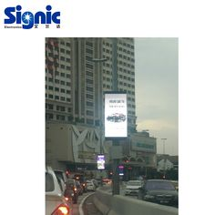 Contact:sales@ledsignic.com High resolution wireless control light pole led display Led Logo, Sign Display, Logo Sign, Round Design, Skyscraper, Advertising, Street, Outdoor, Outdoors