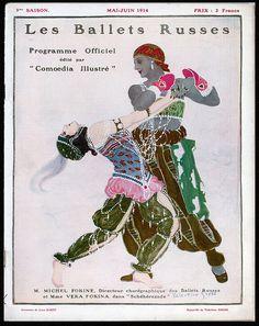 Valentine Hugo 1914 Les Ballets Russes poster