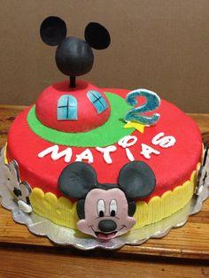 Mickey House cake, torta la casa de Mickey