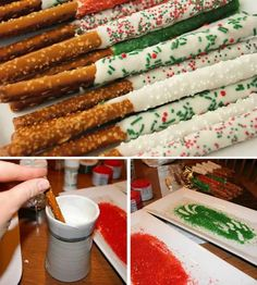 Candy covered pretzels on We Heart It
