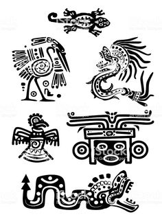 Illustration about Set - American Indian traditional patterns. Illustration of design, culture, eagle - 16985261 Native Art, Native American Art, American Indians, American History, Aztec Symbols, Viking Symbols, Egyptian Symbols, Viking Runes, Ancient Symbols