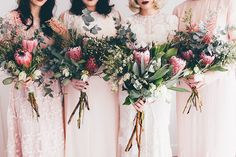 Kyra + Austin – Hello May Protea Bouquet, Floral Bouquets, Protea Wedding, Floral Wedding, Wedding Bouquets, Bridesmaid Flowers, Bridal Flowers, Bridesmaids