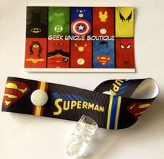 Superman DC Comic Baby Boy Dummy Clip